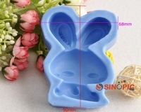 Bugs Bunny Shaped Silicone Mold Cookie/Cake/Biscuit/Dessert/handmade soap Cutter-540021
