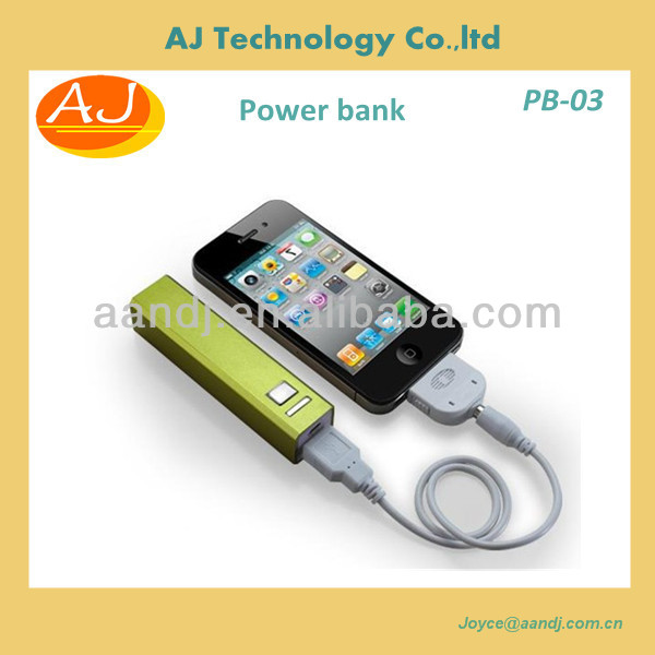 POWER BANK 2600mah in Aluminum, Best promotion gifts!