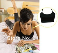 Потребительские товары New Womens / Ladies / Juniors Sexy Halter Sleeveless Stretch Sports Bra Top Wire Free Pullover Bra
