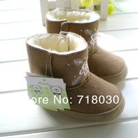 снизу теплый унисекс резиновые новые зимние сапоги бренда обувь baby perwalker обувь первый ходунки Детская хлопок мягкие 8880