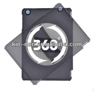 For ipad mini case 360 degree rotating handhold smart cover case for ipad, folio leather case for ipad mini