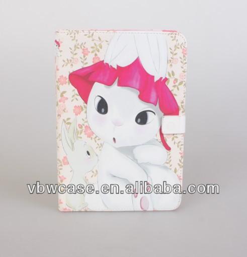 cute cartoon leather case for ipad mini
