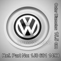 VW WHEEL HUB CENTER CAP FIT FOR Volkswagen Jetta Golf Cabriolet Citi Lupo Passat Vento Bora New Beetle Mk4 Replace #1J0 601 171