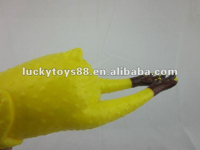 Shrilling chicken toy,Chicken squeeze toy