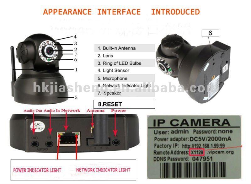 Pan IR-CUT Wireless Mini pan tilt IP Camera
