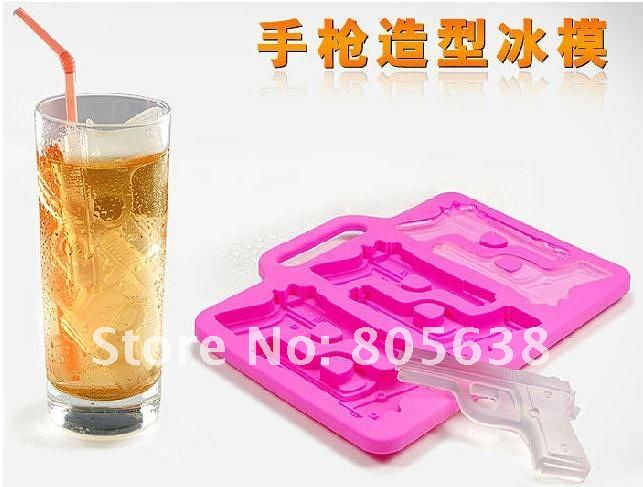 10pcs /lot Freeze - New Pistol Gun Shaped Silicone Ice Cube Tray Mold by Fred  Friends Candle Soap Mould Maker Free Shipping