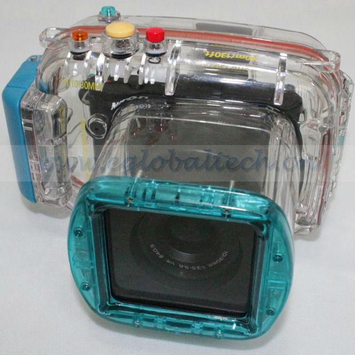 digital waterproof camera case for Nikon V1(l0~30MM), 40m/ 130ft depth underwater camera housing, Nikon Waterproof Camera Case