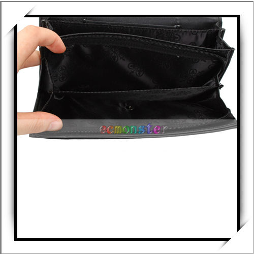 Cheap Bow Wallet Long Ladies Clutch Purse Black