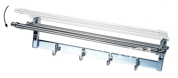 Factory wholesales  towel rack  with hooks,bathroom accessories