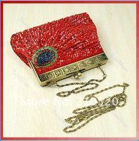 Клатч Classic Peacock Sequin Feather Style Beaded Evening Handmade Handbag Clutch Bag to Ru