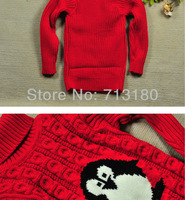 Свитер для девочек Chritmas Winter Girls Clothing Cotton three color Penguin Turtleneck Sweater Children's Outerwear Thick Sweater