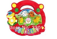 Детский музыкальный инструмент 5PCS/LOT New Useful Baby Kidduc Musical education Animal Farm Piano Music Toy Developmental