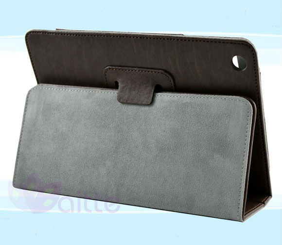 Leatherette Case Cover for iPad mini (Built-in magnet for sleep/wake feature)