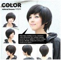 милые женщины черный/коричневый короткий парик партия Урле