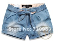 Женские шорты 2012 hot sale low price denim shorts, so fashion ladies shorts ladies shorts 1 piece/lot
