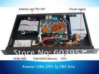 Потребительские товары AIMMER / OEM 1U t1/E1/J1 VOIP Elastix , TE110P E1 /T1 /J1 AIMMER-X86-IPE1