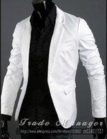 Мужской пиджак Autumn New Korea Mens Coat Slim Turndown Collar Suit Jacket One Button Suit Blazer NT019