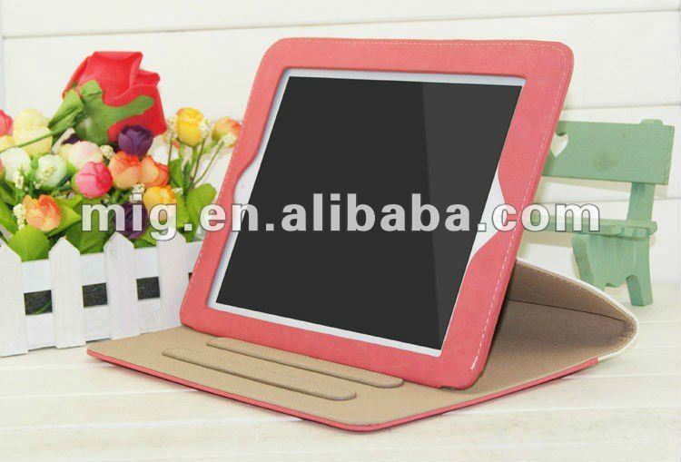 Fashion leather jean case for ipad 2 3, for ipad 3 leather case with nice belt