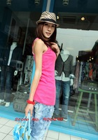 Free Shipping  / Women's T-Shirts / Free Size / 10 Colors / 2 Pieces / Cotton / Sleeveless / O*Neck / Blank