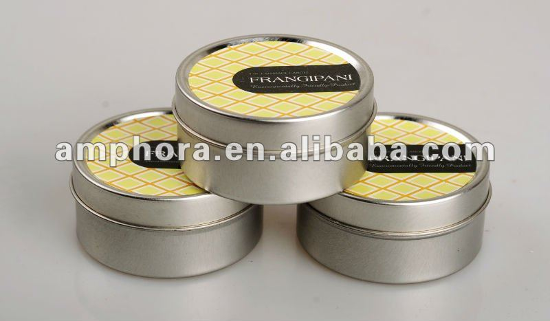 tin packing for 40g white scented candle