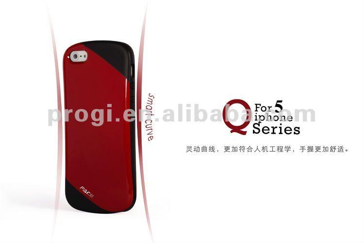 o rosto da marca q série tpu caso para iphone 5s com embalagem de varejo