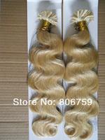 "Волосы на капсулах 1g/s 18"" 20"" 22"" 24"" Indian remy Keratin nail tip hair/ U tip hair extension #4 dark brown color 100gram/pack"