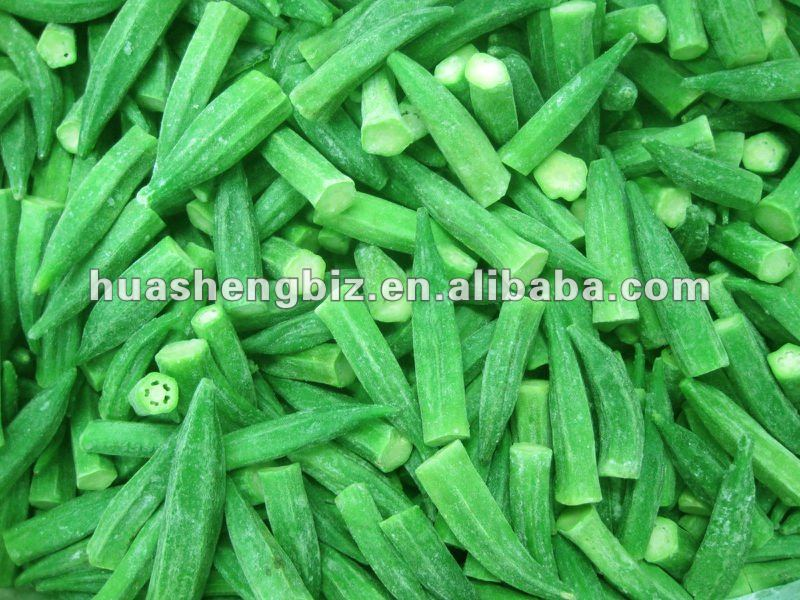 New Crop Frozen Okra Cuts and IQF Whole Okra