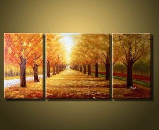 Pinturas de árboles al óleo - Imagui