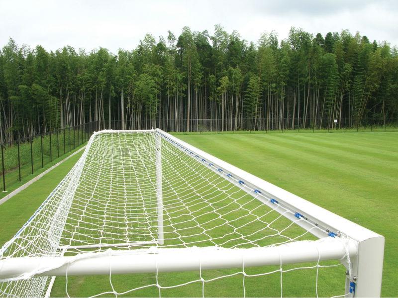 Football Equipment : Aluminum Soccer Goal 1 pair with Nets Sanwa Taiku Japan