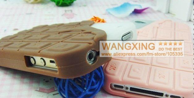 New Arrival, Cute Melt Chocolate Design Cover, for iPhone 4 4S Case, Silicon Material,3 Colors, Retail, Wholesale, Free Shipping