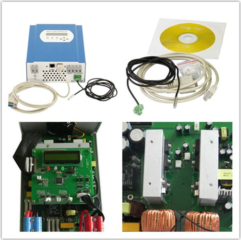 48V 10a 24v solar controller mppt off grid 3kw solar power inverter 20-60A