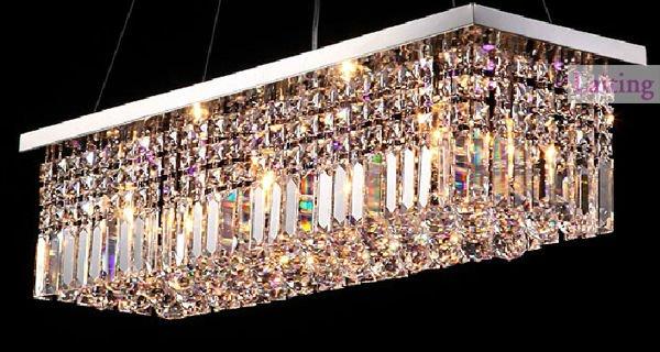 suspendus luminaire de plafond rectangulaire k9 boule de cristal lustre lustre id de produit. Black Bedroom Furniture Sets. Home Design Ideas