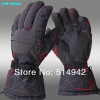 Free shipping windstopper waterproof winter snowborad men's sport ski gloves black /30 warm riding Motorcycle gloves