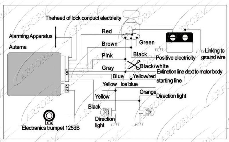 Wiring Diagram Of Motorcycle Alarm System : Engine start way motorcycle alarm buy