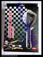 Side Mirror CNC For Victory Indian Bobber Triumph black  Q01