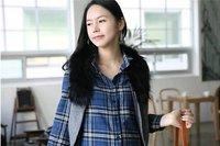 Розничная и моды мягкий хлопок материнства рубашки носить одежда платье юбка беременная девушка топы Длинный рукав голубой плед