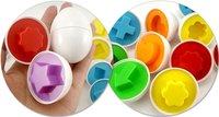 Детский набор для моделиррования 6 Piece/SET .5Set/pack Puzzle Eggs Match Shapes Baby Kid Match Wise Smart Learning Kitchen Toy supper kids christmas gift