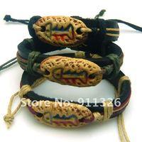 примитивные племена fishbone Тотем коры Окрашенные Керамика коры Браслеты украшают статьи