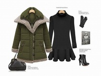Женские пуховики, Куртки womens down jackets and coats winter 2013 plus size winter down coats outerwear warm coat for woman