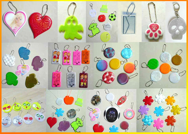 advertising key chain,spherical key chain,Reflective keychain key ring fobs