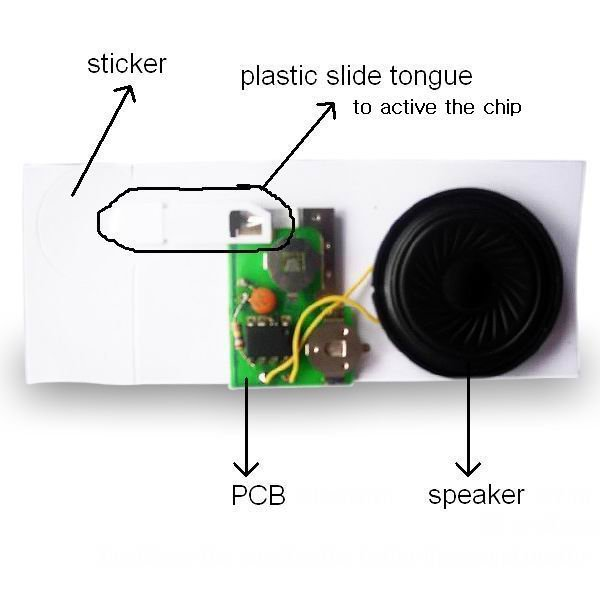 Music Chip for Greeting Cards,music card chip