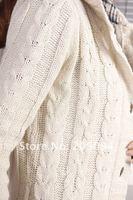Женские толстовки и Кофты 2011 Fashion long Sweater/100% cotton / /just three colors gary black and beige