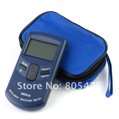 Free shipping Inductive Wood Tree Timber Digital Moisture Meter with bag MD918 4~80% Resolution:0.5%