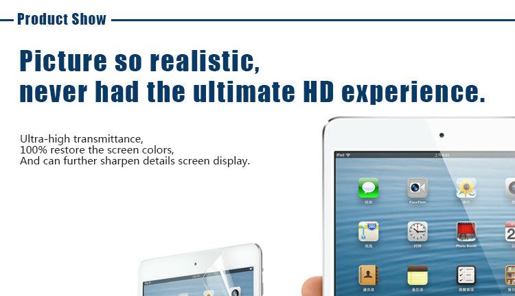 PBH High Clear/High Quality screen protector for IPAD MINI oem/odm
