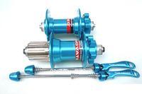 высокое качество mtb/дорога велосипедов велосипед Новатек тормозные ступицы d041sb/d042sb, 36h, синий, для shimano & sram-mtb xc, фр