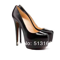 Туфли на высоком каблуке 2012 Womens Shoe Fashion Pump Platform Stiletto High Heel Shoes Sexy Black Red Sole