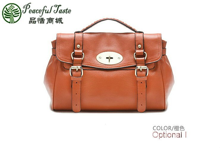 100% Guaranteed,Genuine Leather Alexa Ladies Handbags,Size L-31cm,H-26cm,W-11cm - DUDU