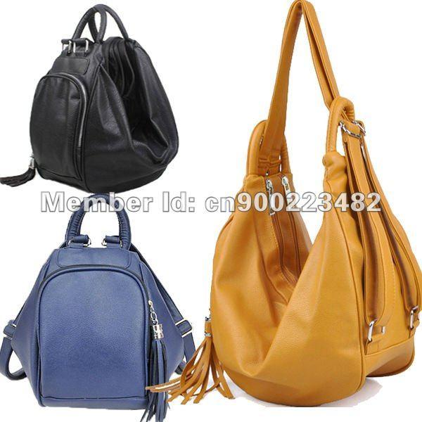 Women's leather handbags backpacks