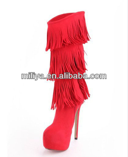 white suede leather women high heel boots thick platform