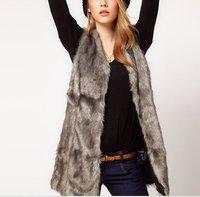 Женский жилет 2012 new autumn winter ladies' fur vest waistcoat western style coat female luxury outerwear